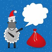 Christmas Funny Sheep