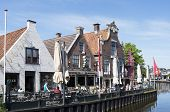 People On A Terrace In The Center Of Lemmer.