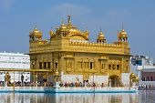 Golden Temple In Amritsar, Punjab, India.
