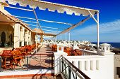 The Sea View Outdoor Terrace Of Restaurant At Luxury Hotel, Sharm El Sheikh, Egypt