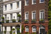 LONDON, UK - JUNE 3, 2014: Mayfair town houses and flats, centre of London