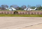 Un Helicopters On The Airfield