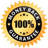 100% money back guarantee label (vector)