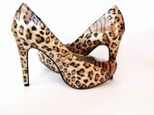 Leopard print high heels