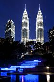 KUALA LUMPUR, MALAYSIA - June 6:  View of the Petronas Towers on June 6, 2014 in Kuala Lumpur.  The towers are the tallest twin buildings in the world.