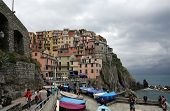 MANAROLA, ITALY - MAY 02: one of the Cinque Terre villages, UNESCO World Heritage Sites, remains a m