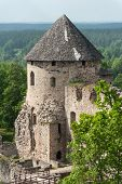 Ruins of the beautiful castle in town of Cesis was a residence of the Livonian order (teutonic knigh
