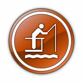 Icon, Button, Pictogram Fishing Pier