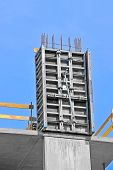 picture of formwork  - Concrete formwork with a folding mechanism on construction site - JPG