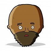 cartoon shocked man with beard