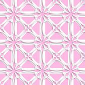 White Tile Ornament With Light Pink Layering