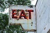 Vintage Neon Restaurant Sign