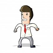cartoon nervous businessman