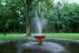 pic of gushing  - Made of stone fountain - JPG