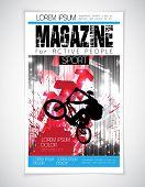 Vector sport brochure cover. Template.