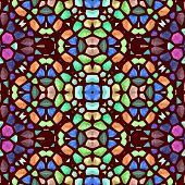 image of symmetry  - Symmetry kaleidoscope colored glass  - JPG