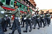 Nepali Soldiers Marching