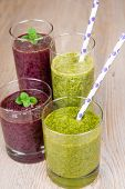 Fresh Blueberry And Spinach Smoothie Drinks