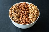 Different Types Of Nuts In Bowl