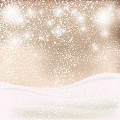 Abstract Christmas background. Winter backgrownd in beige and white colors