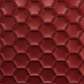Red Honeycomb Background
