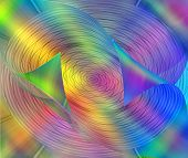glowing abstract design with rainbow colors