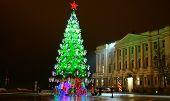 Christmas Tree At The Main Minin Square In Nizhny Novgorod