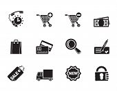 Silhouette Internet icons for online shop