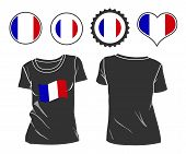 t-shirt with the flag of France