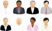 stock photo of people icon  - Set Of Different Business People Icons - JPG