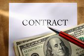 Contract Conception With Money And Pen