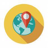 Globe with pin