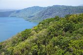 Wonderful volcanic crater lake Apoyo