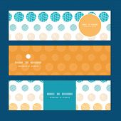 Vector texture circles stripes abstract horizontal banners set pattern background