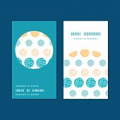 Vector texture circles stripes abstract vertical round frame pattern business cards set