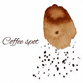 Abstract Background With Coffee Spot