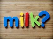image of debate  - Milk question concept for breast milk debate - JPG