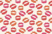 lipstick mark seamless pattern