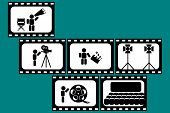 movie and cinema design elements
