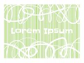 Scribble Circle Lines With Space For Your Text And Green Line Abstract Background