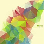 Abstract vector background with triangles and polygon mesh