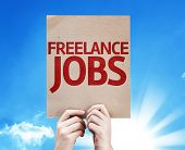 Freelance Jobs card with beautiful day
