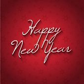 Simplistic Happy New Year background with decorative text design