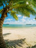 Tropical beach of Chaweng on Koh Samui island in Thailand