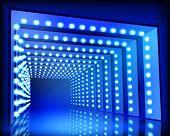 Lighting Tunnel. Vector illustration.