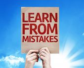Learn From Mistakes card with beautiful day