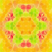 Abstract Triangle Pattern. Vector Background
