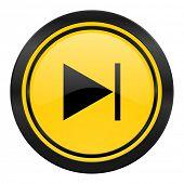 next icon, yellow logo,