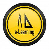 learning icon, yellow logo,