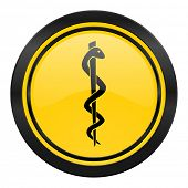 emergency icon, yellow logo, hospital sign